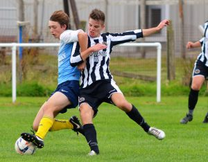 Osian Burrell in action v Borth Res