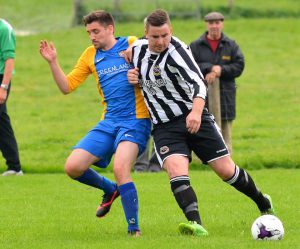 Dean Evans in action v Llanilar