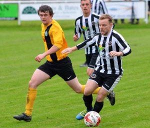 Lee Jones in action v Hay St Mary