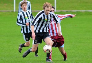 Matt Pemberthy in action v Churchstoke