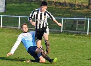 Jac Williams in action v Borth Res