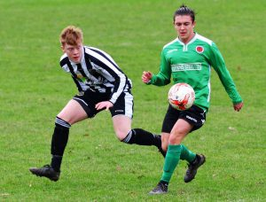 Owen Roberts-Young in action v Aberaeron