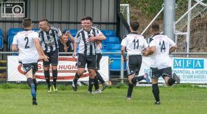 The Magpies celebrate Tom Williams winner