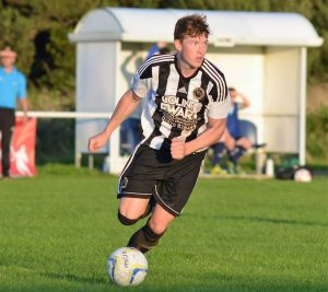Llion Jenkins in action v Borth United