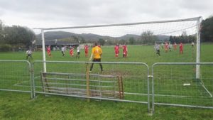 Action from the league cup first round tie.