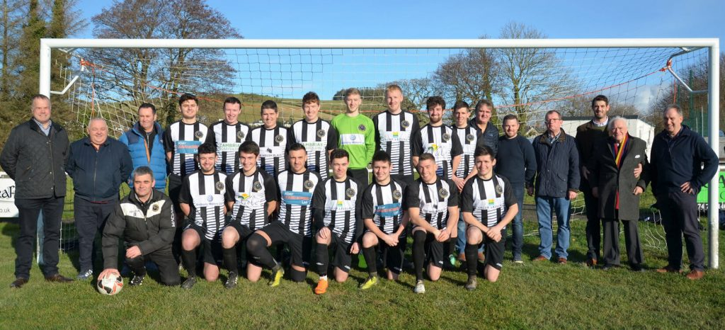 2019-2020 First Team Squad with Sponsors